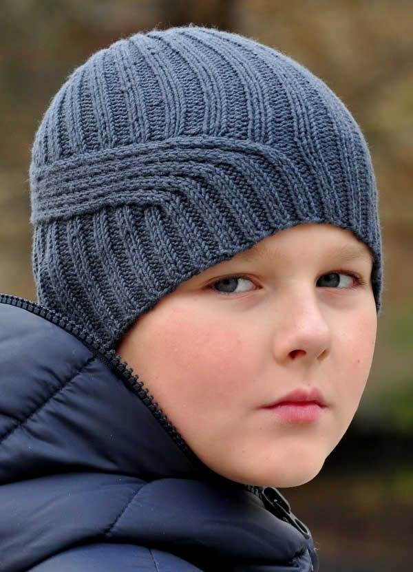 Вязание для мальчиков шапки спицами