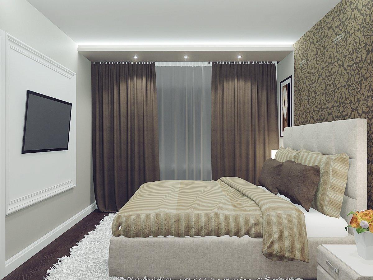 Дизайн спальни в «хрущевке» (94 фото реальные идеи ремонта) 36