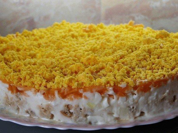 Пошаговый рецепт мимозы с фото