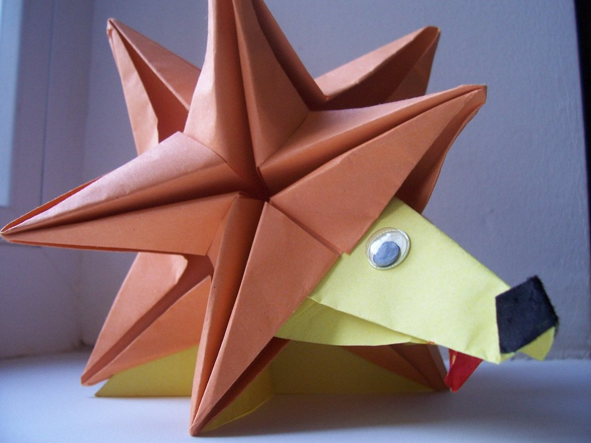 Поделки оригами ежики 31