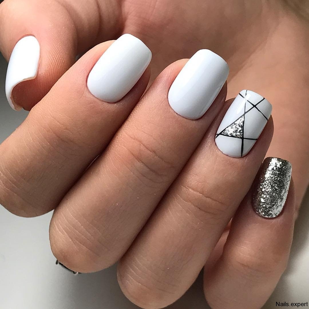 Дизайн ногтей 2018 фото новинки с серебром
