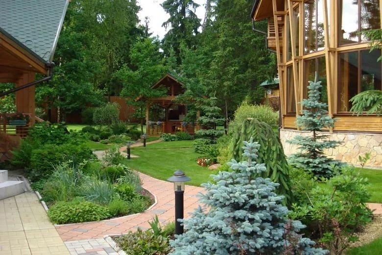 Фото участков загородных домов дизайн и планировка