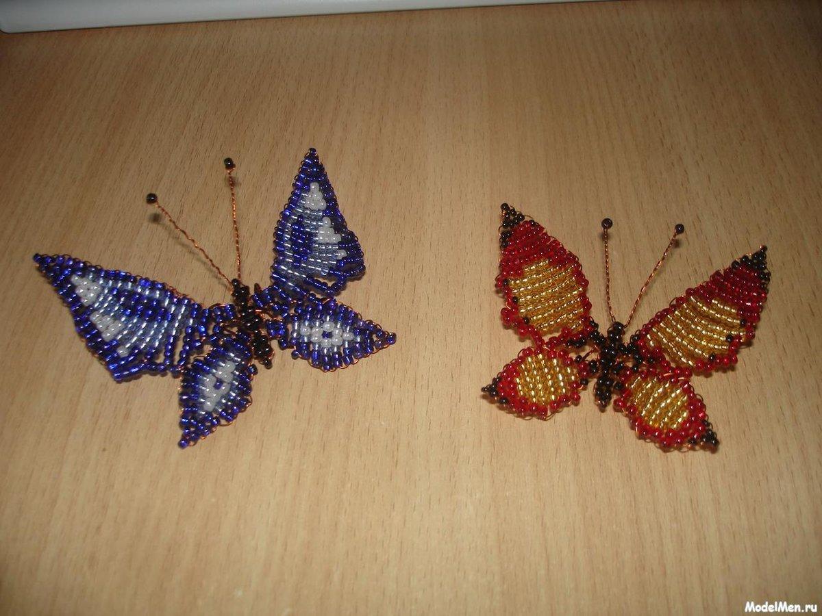 Как сделать с бисера бабочку фото