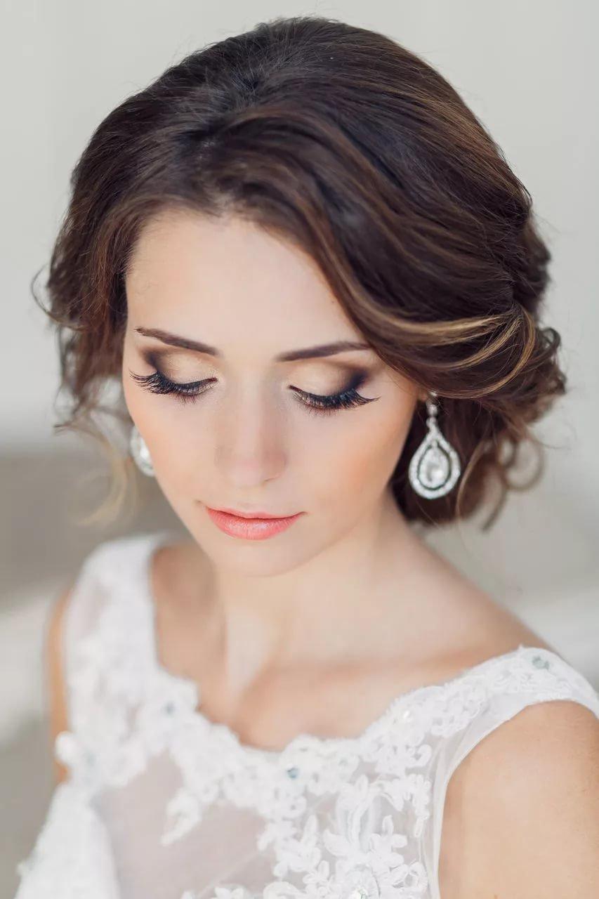 Красивый свадебный макияж невесты, фото, идеи 83