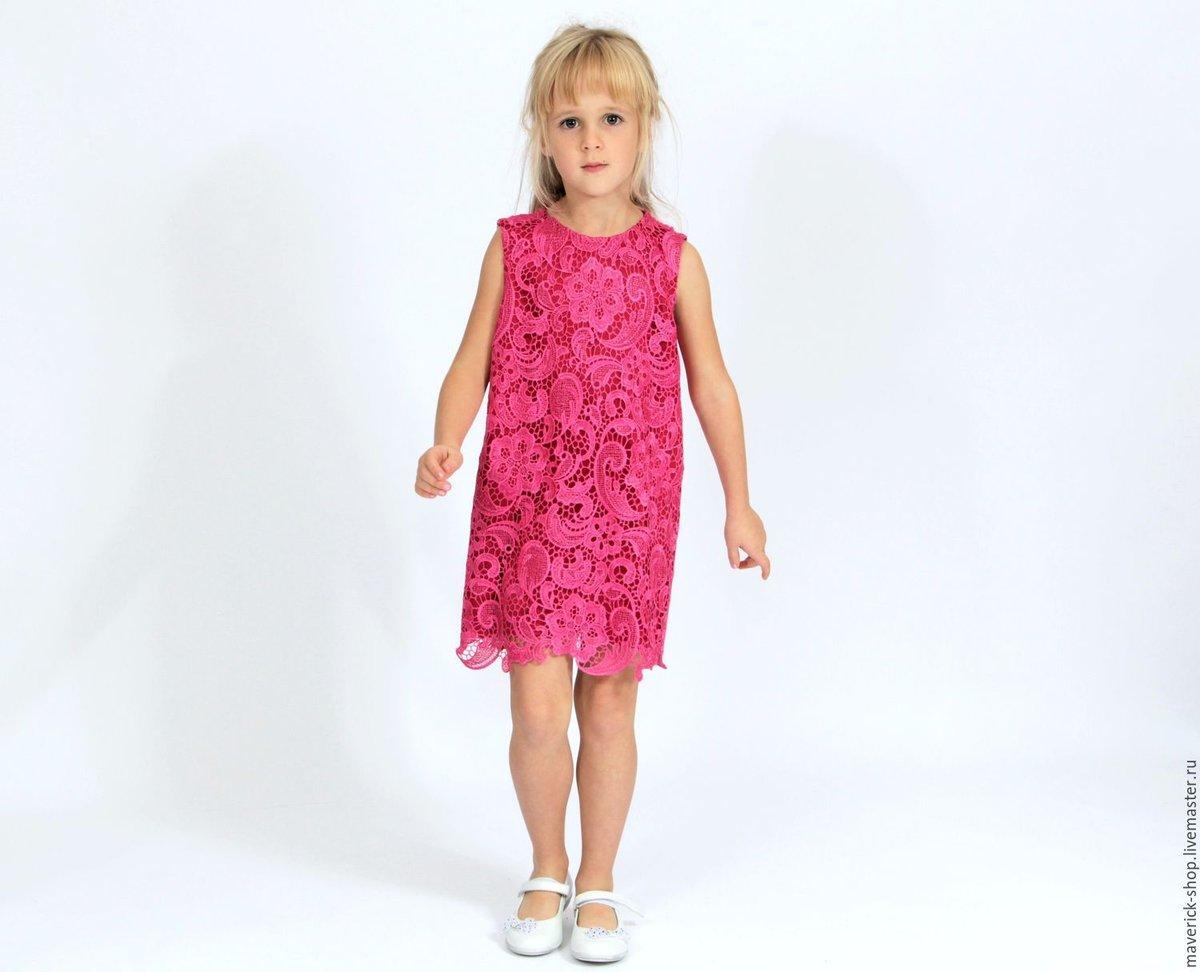 Ажурное платье для девочки: детское, из гипюра, с кружевом 5