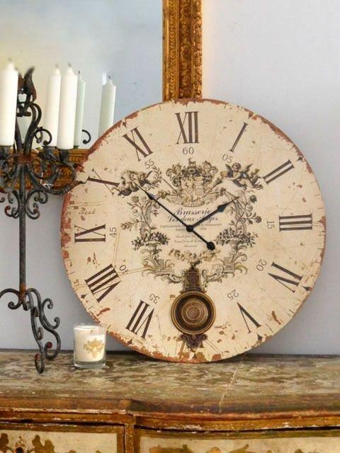 Винтажные настенные часы своими руками 54