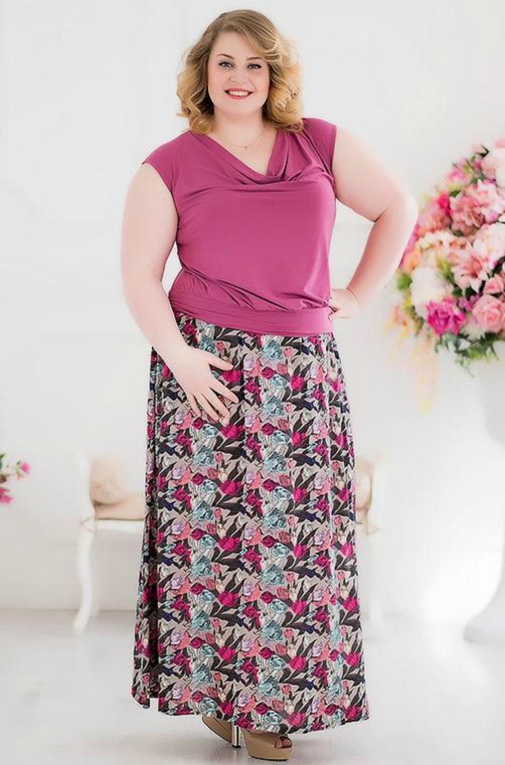 Сшить летнюю юбку для полной женщины