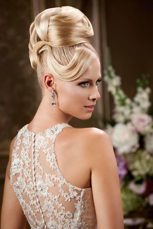 Красивые свадебные прически для каждого типа волос. 151 лучшее фото 42