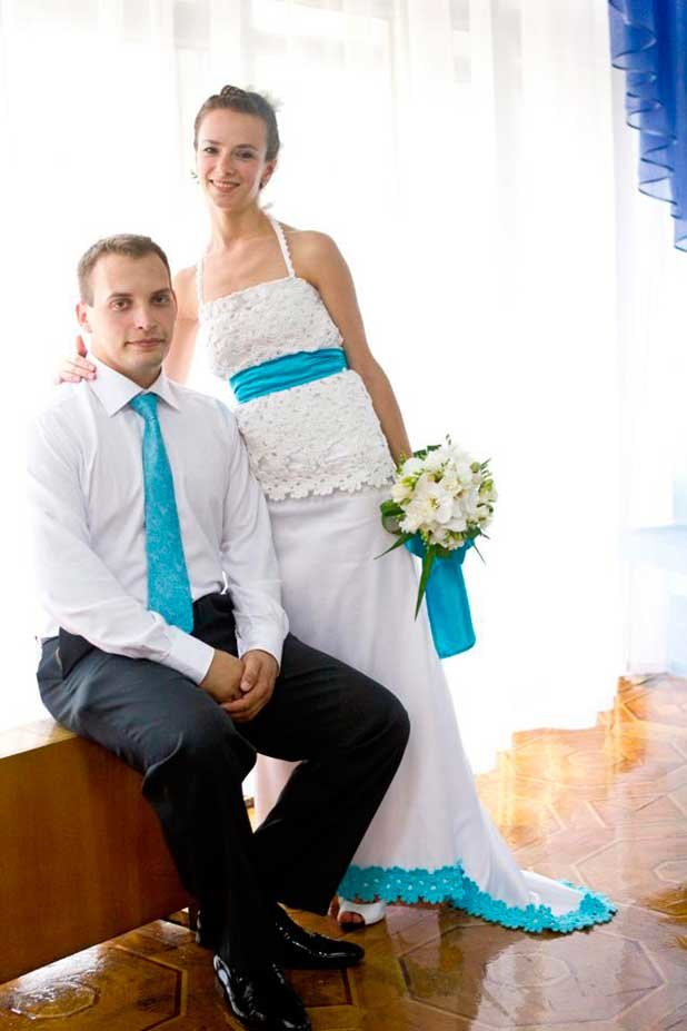Свадеб платья с бирюзой