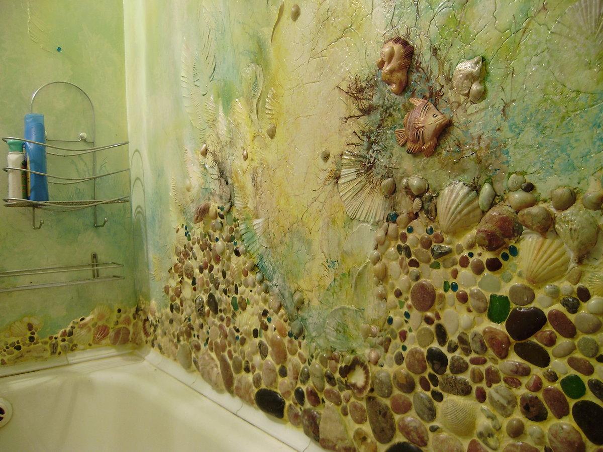 Как украсить ванную комнату своими руками (39 фото идеи) 79