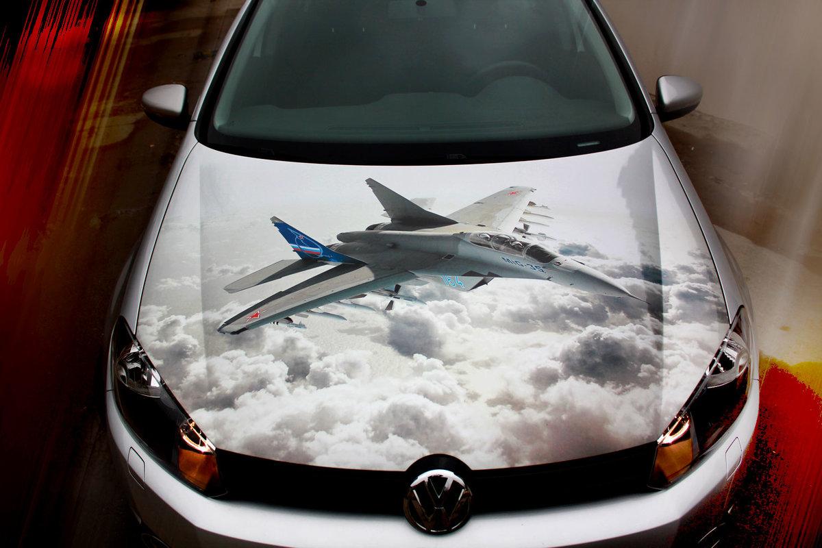 Виниловый рисунок на капот для авто