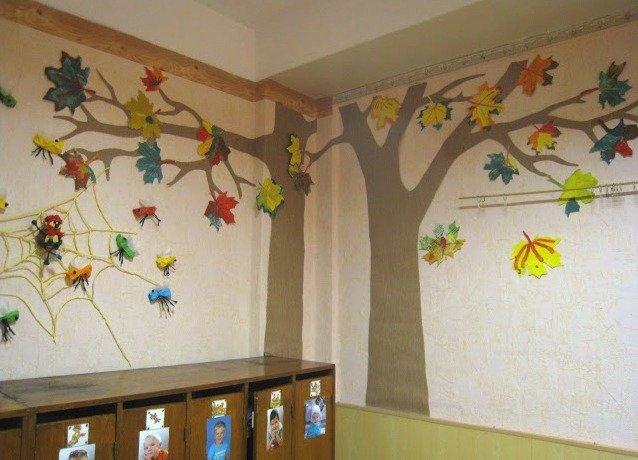 Как украсить раздевалку в детском саду своими руками осень 96