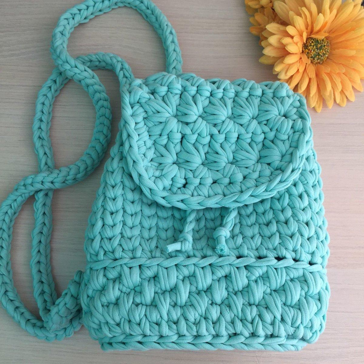 Вязание крючком рюкзак 14