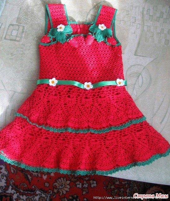 Вязание детского платья сарафаны 658