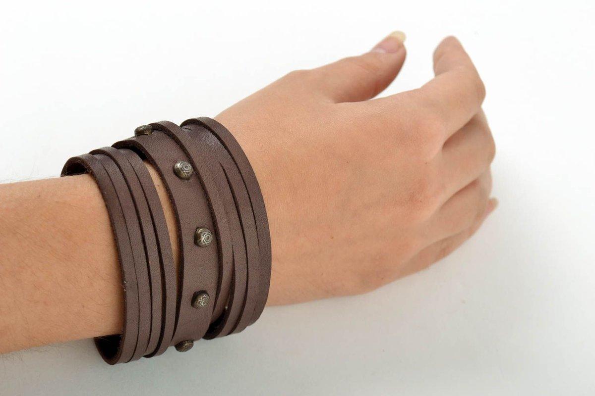 Кожаный браслет для женщин своими руками 924