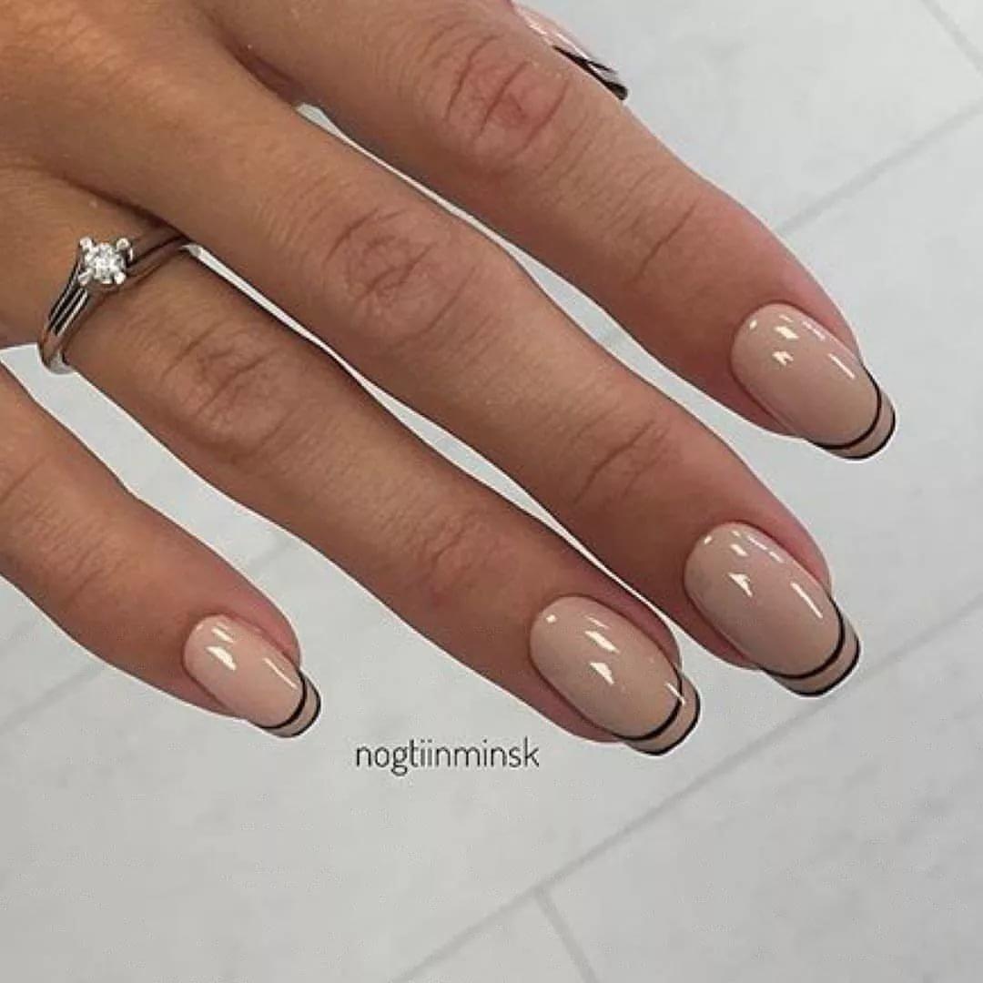 Дизайн ногтей 2018 фото новинки френч коричневый
