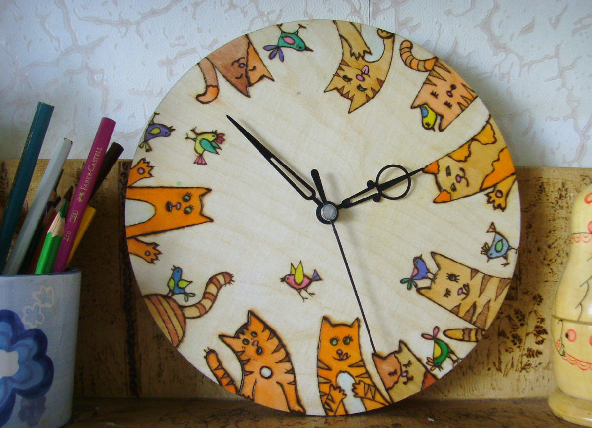Часы своими руками : создаем из подручных материалов 59