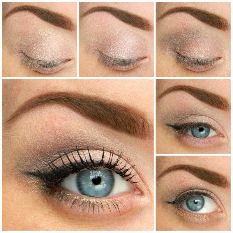 Вечерний макияж пошагово для синих глаз