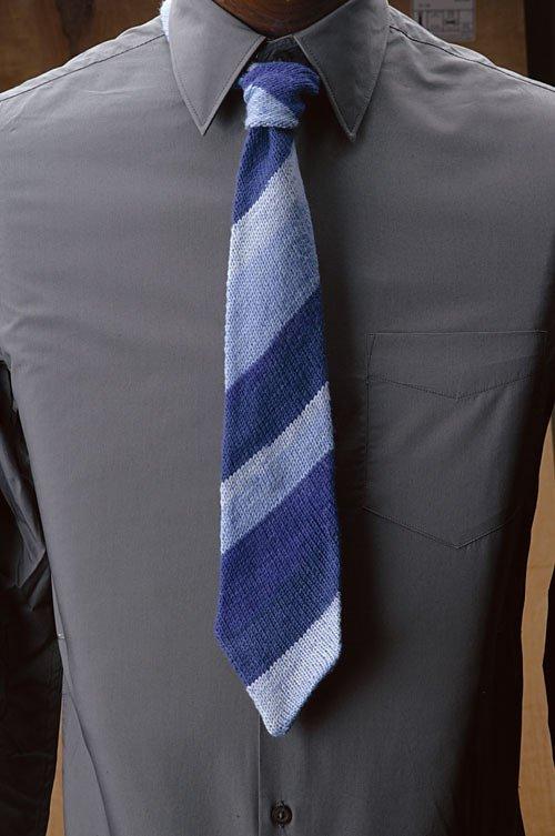 Вязаный галстук своими руками 72