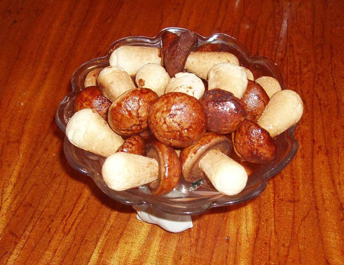 Печенье грибки в форме рецепт