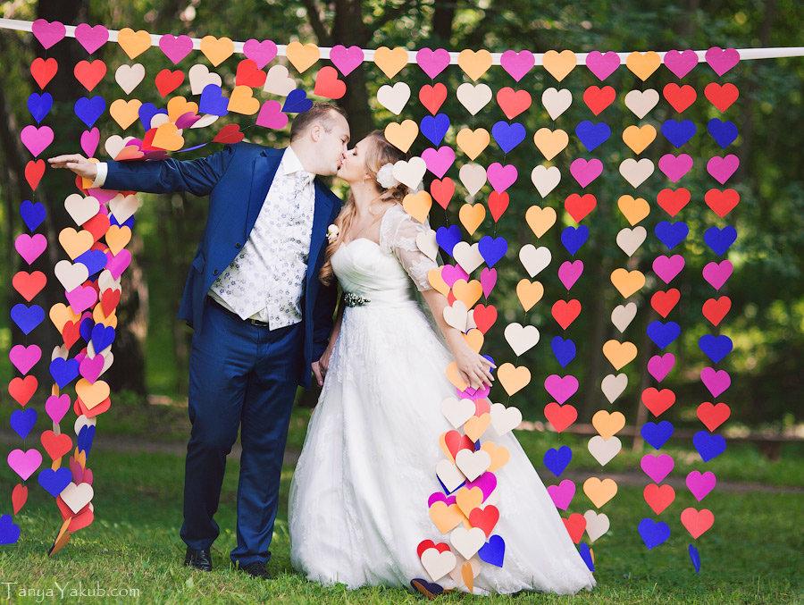 Как сделать фотозону на свадьбу