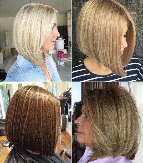 Стрижки каре прически для средних волос