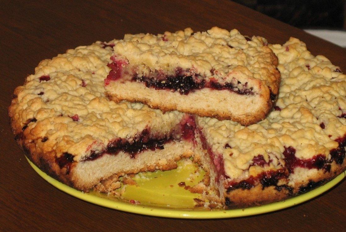 Рецепт пирога с вишней из песочного теста пошагово