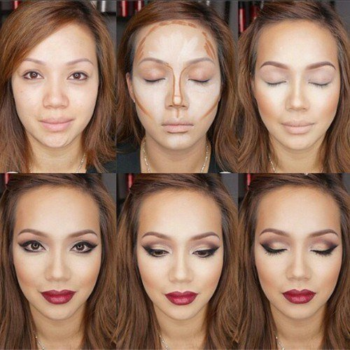 Как наносить косметику на лицо пошагово