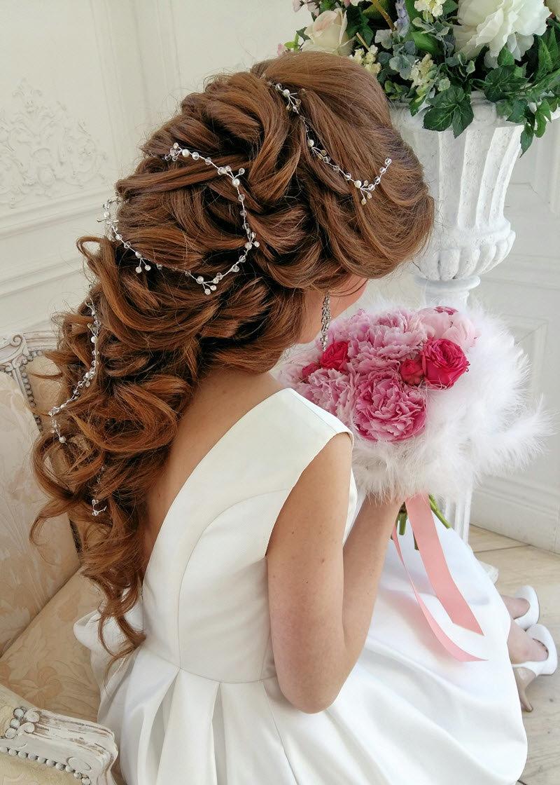 Прическа на свадьбу виде