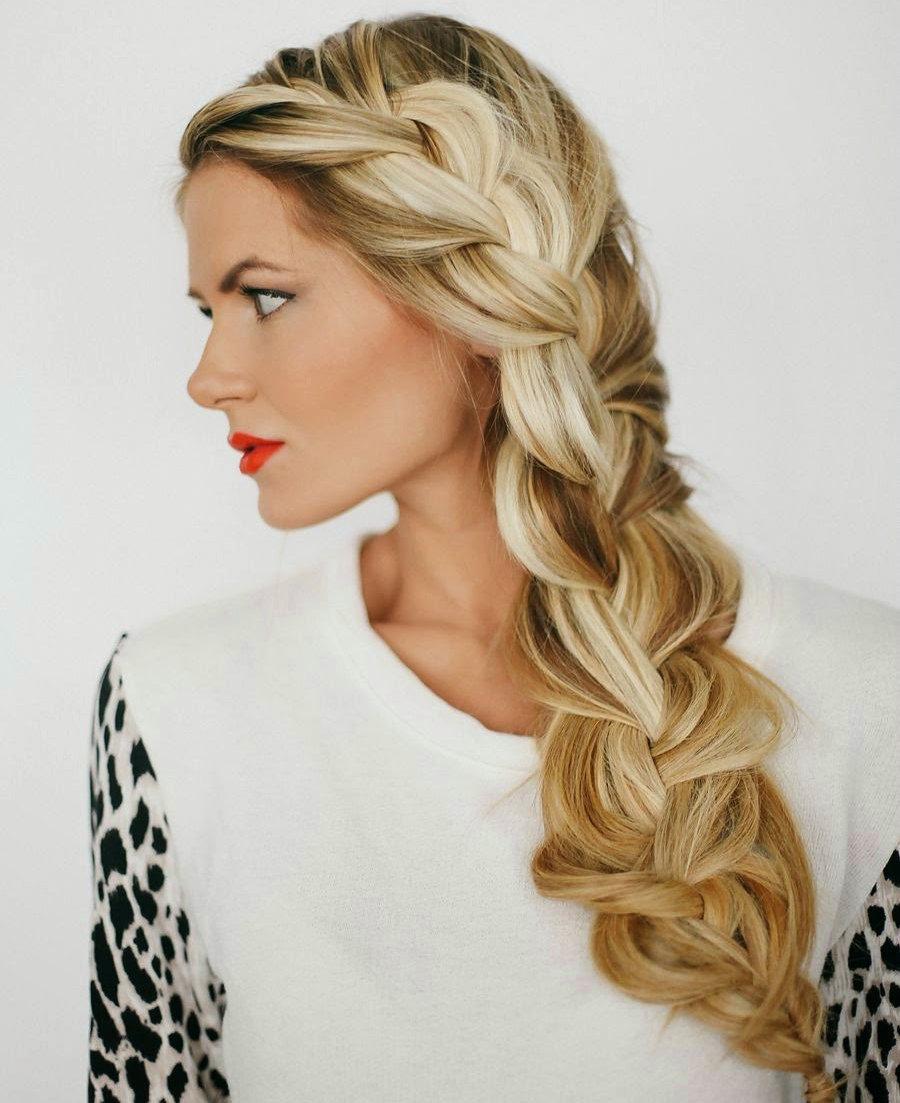 Прическа с косой на бок длинные волосы фото