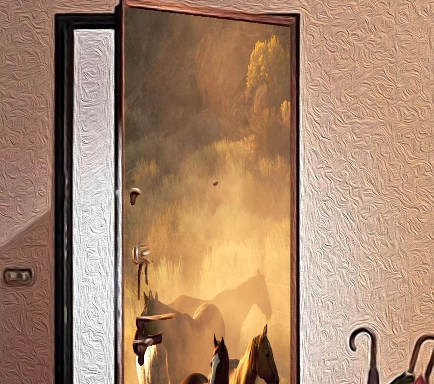 Идеи для декупаж двери своими руками 52