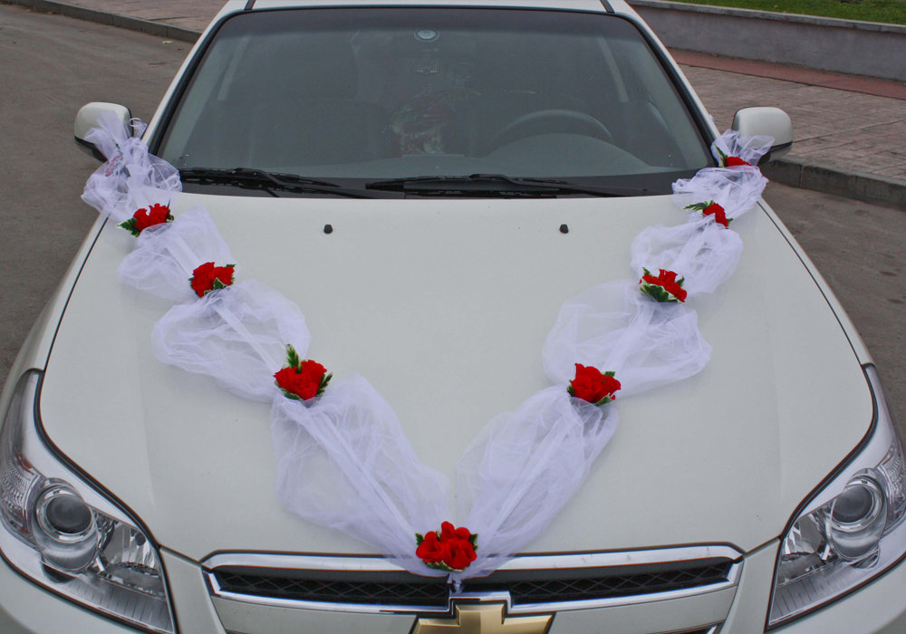 Как украсить капот машины на свадьбу своими руками 47