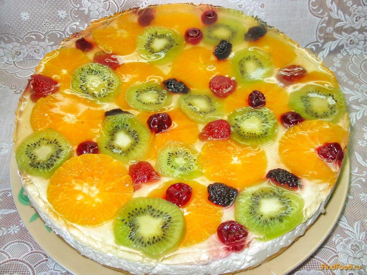 Как оформить торт фруктами в домашних условиях фото пошагово