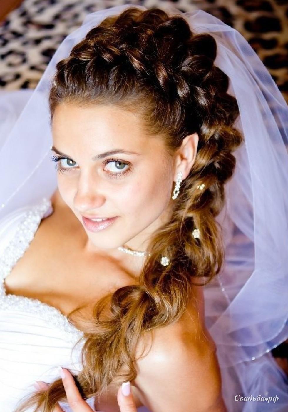 Прическа из косичек свадебные фото