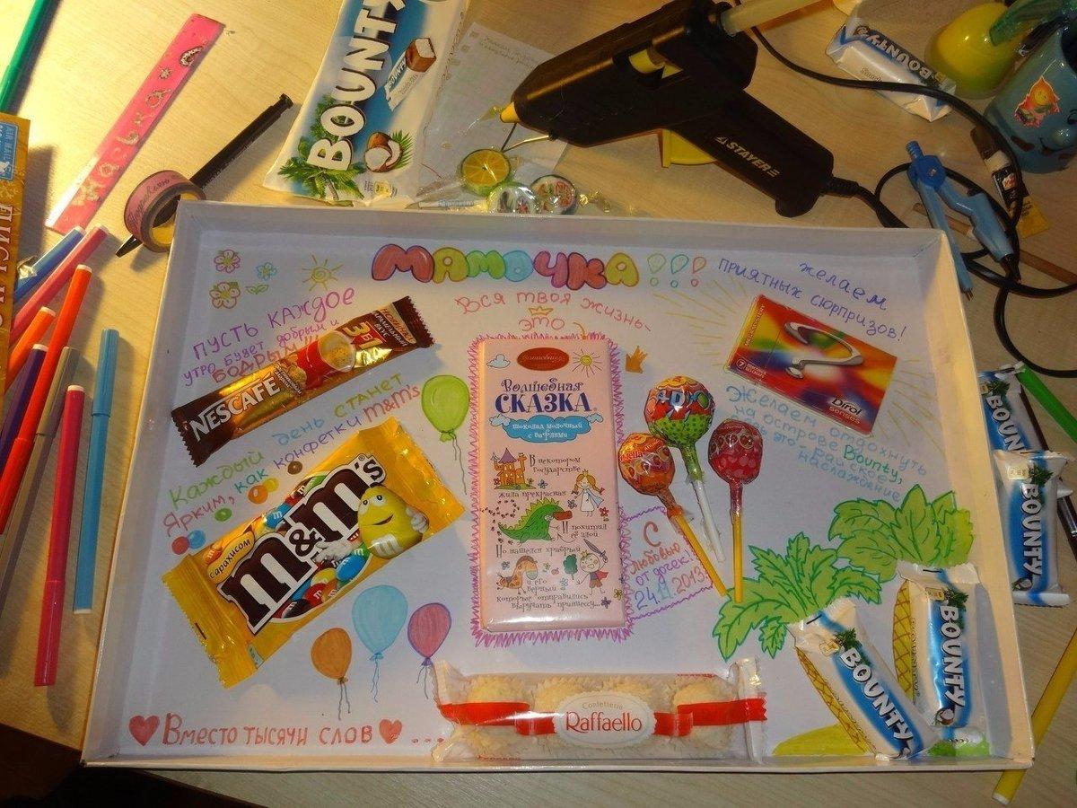 Подарок маме из шоколадок 2