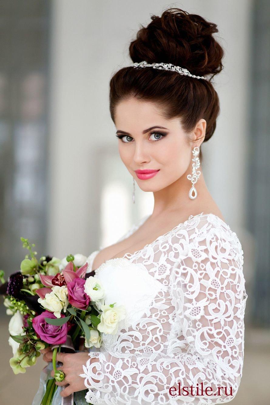 Красивые свадебные прически для каждого типа волос. 151 лучшее фото 91