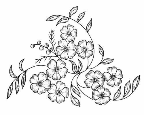 Цветок. рисунок для вышивки 876