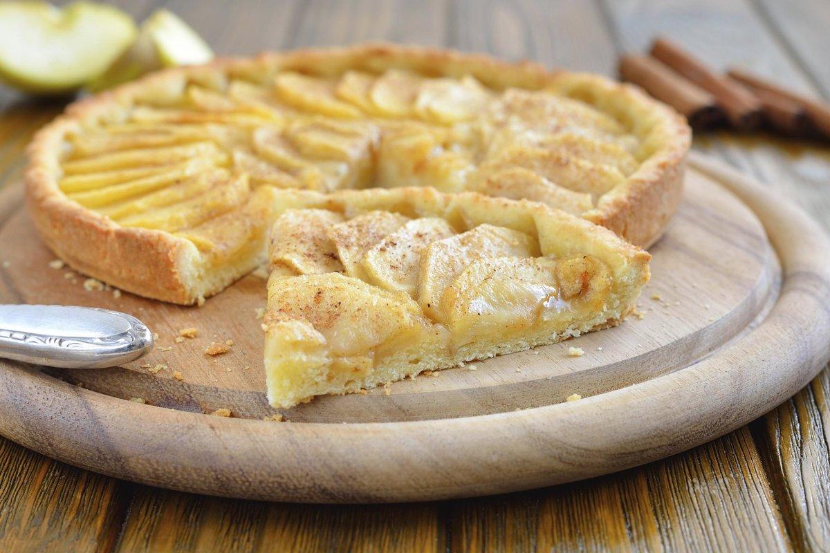 Пирог из яблок из песочного теста пошагово