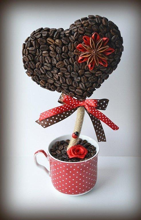 Как из кофе сделать топиарий