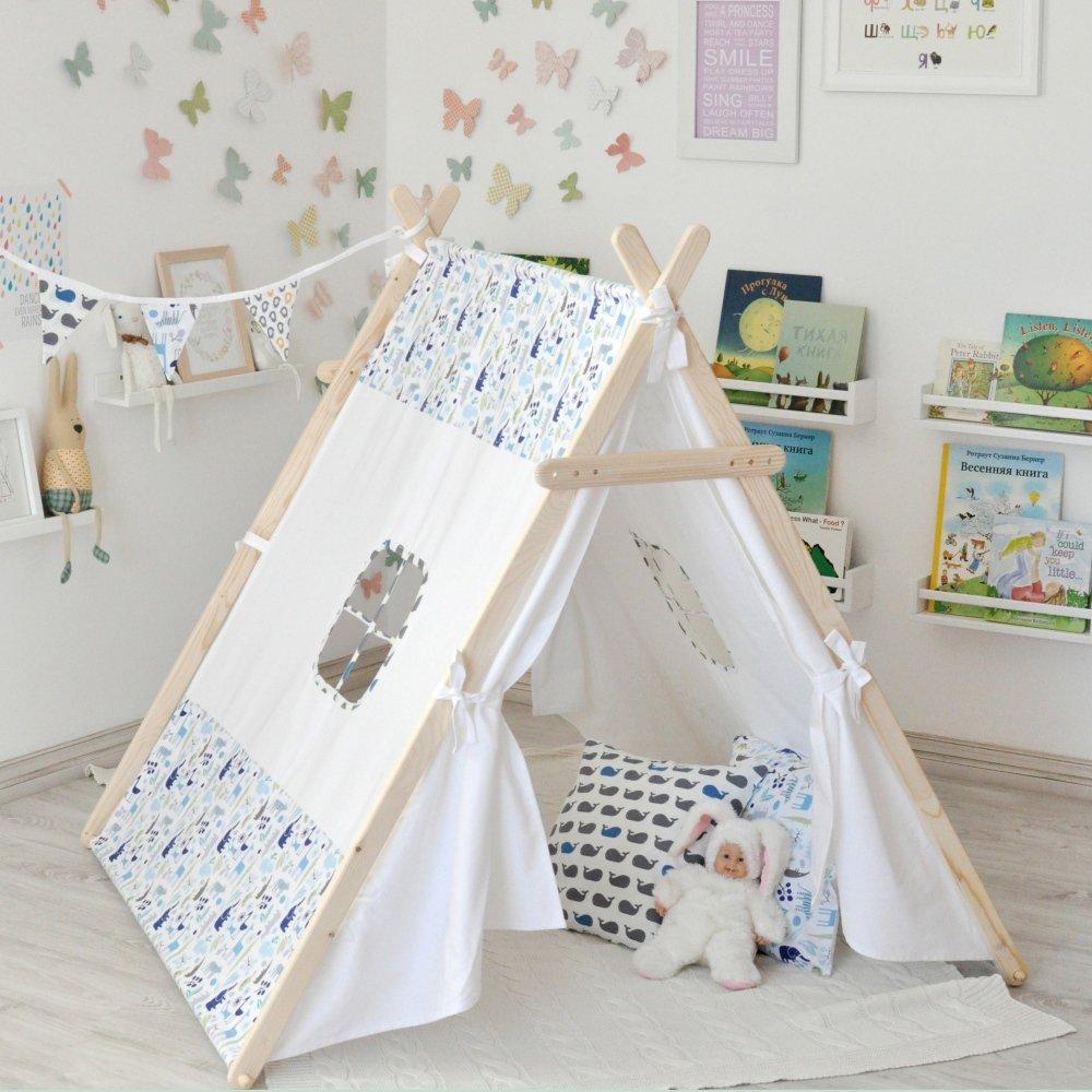Детский домик-палатка своими руками 65