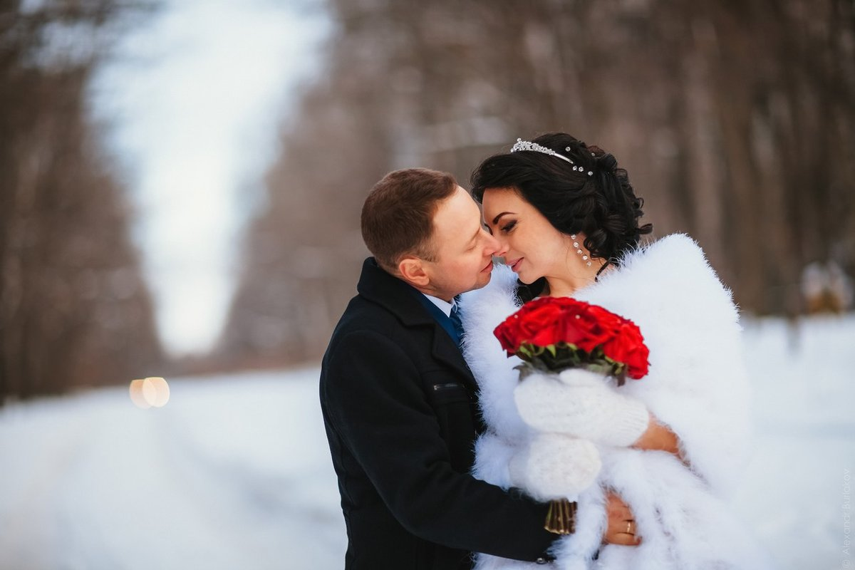 Идеи свадьбы зимой фото