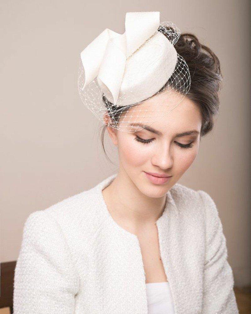 Свадебные шляпки прическа