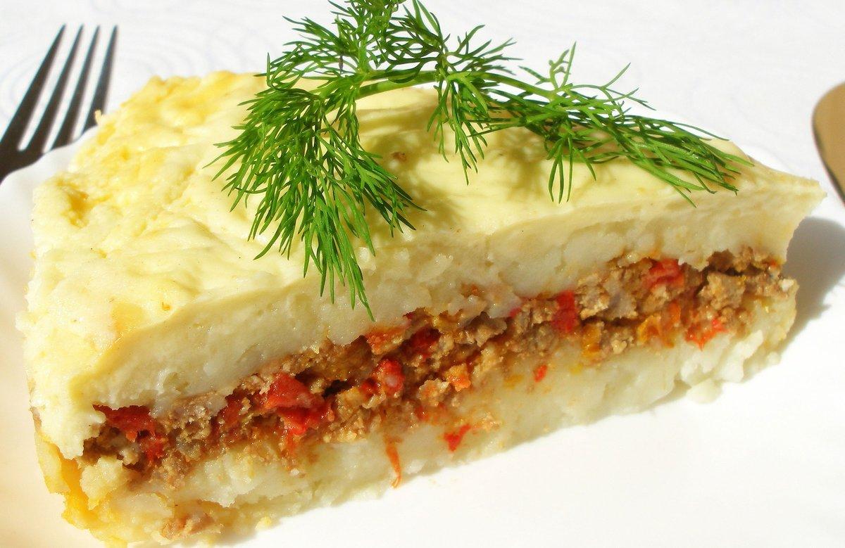 Вкусная картофельная запеканка с фаршем в духовке рецепты с пошагово