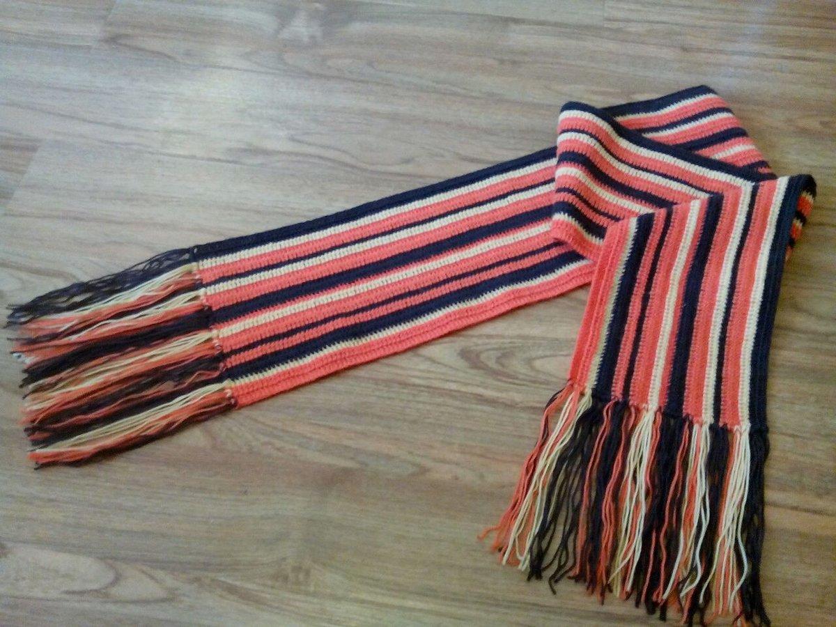 Вязание крючком шарф в полоску