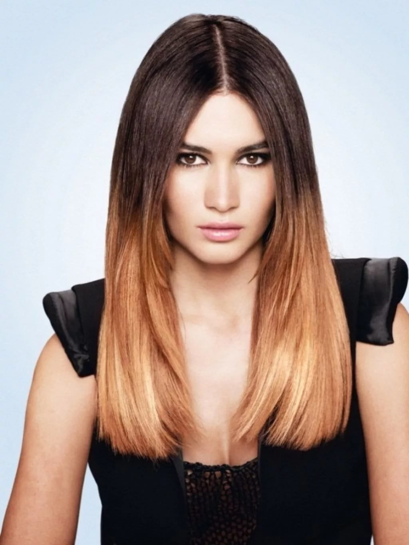 Окрашивание омбре: переход волос от темного к светлому 2