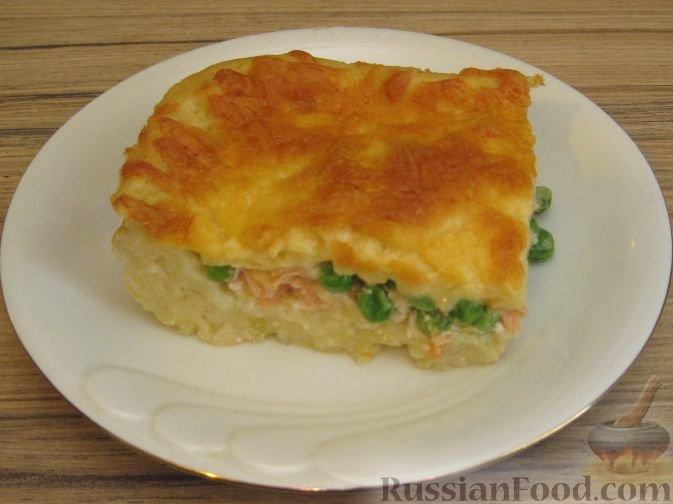 Картофельная запеканка с скумбрией в духовке рецепт пошагово 153