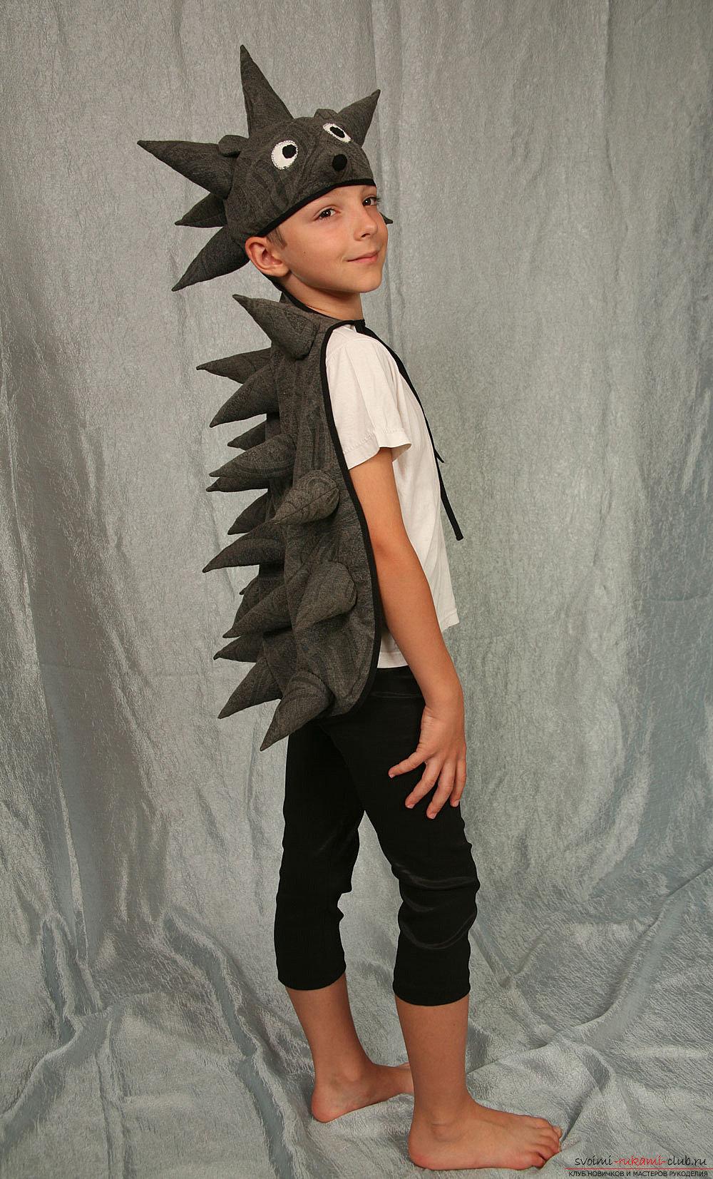 Костюм ежика для мальчика своими руками