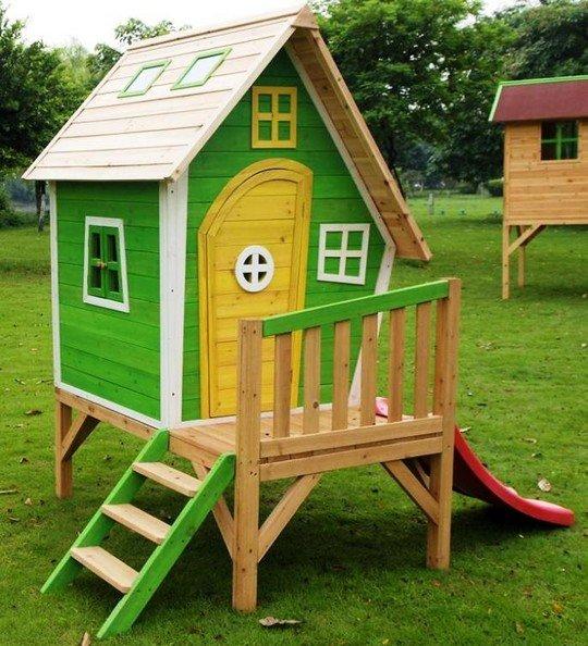 Проекты детских домиков из дерева