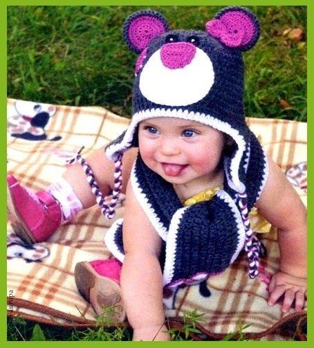 Вязание шапки крючком на ребенка 348