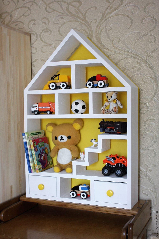 Деревянный стеллаж для игрушек своими руками 31